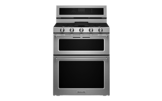 KFGD500ESS - 30-Inch 5 Burner Gas Double Oven Convection Range