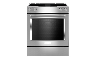 KSEG950ESS - 30-Inch 4-Element Electric Downdraft Front Control Range