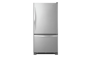 WRB329RFBM - Whirlpool® 19 cu. ft. Bottom-Freezer Refrigerator with Freezer Drawer